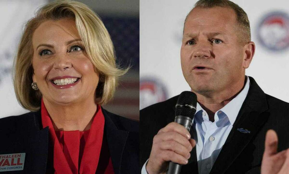 Republicans Kathaleen Wall and Troy Nehls are headed to a runoff in Texas' 22nd Congressional District. Nehls finished first in the 15-candidate primary, followed by Wall.