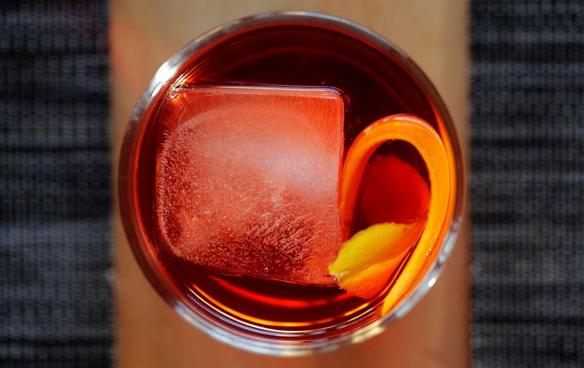 The Negroni cocktail served at Belotti Ristorante, a pasta-focused Italian restaurant in Oakland, Calif., on Wednesday, February 26, 2020.