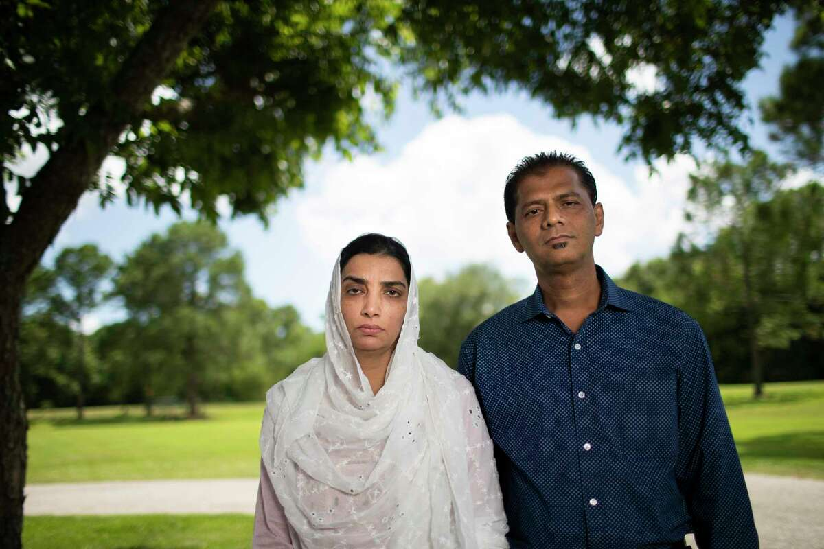 Farha Aziz Sheikh and her husband Abdul Aziz Sheikh visited the Santa Fe Resiliency Center on Wednesday, July 10, 2019, in Santa Fe. The couple came with their family to Houston from Pakistan for the first time. They are the parents of Sabika Sheikh who was among the 10 students and staff killed at the Santa Fe High School in 2018.