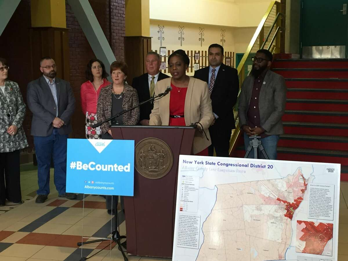 Superintendent Kaweeda Adams and Mayor Kathy Sheehan discussed the city's efforts to help reach as many residents as possible during the 2020 Census count.