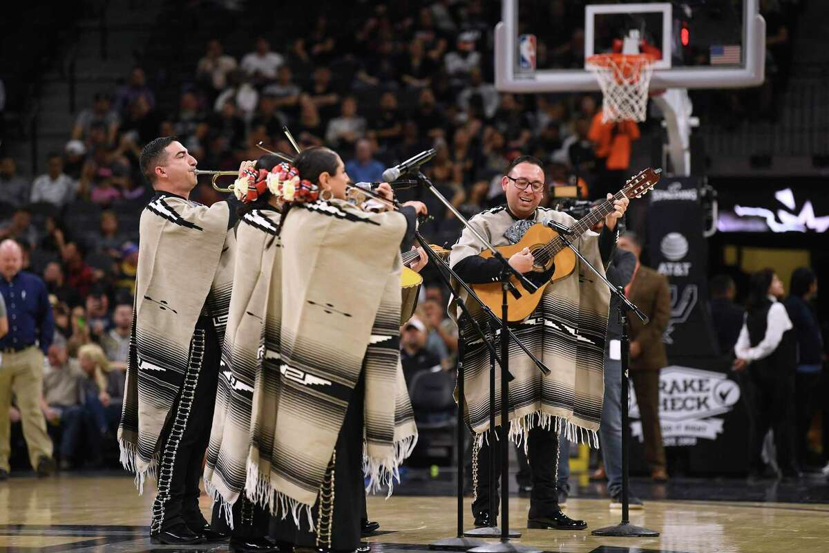 The San Antonio Spurs routinely have a mariachi group play during timeouts of their NBA games.