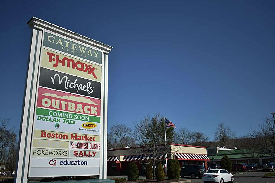 Dollar Tree and BevMax are taking over a former grocery store space at Gateway Center on Danbury Road in Wilton, Conn., pictured on March 5, 2020. Photo: Alexander Soule / Hearst Connecticut Media