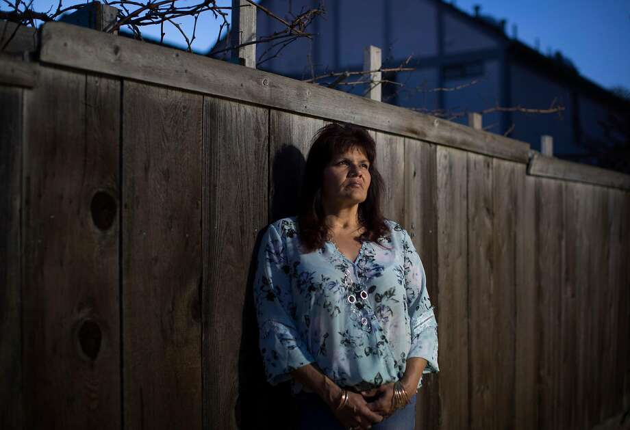 Melissa Moore, who was Kelly Gene Perry's fiancee, at her Castro Valley home. Photo: Carlos Avila Gonzalez / The Chronicle