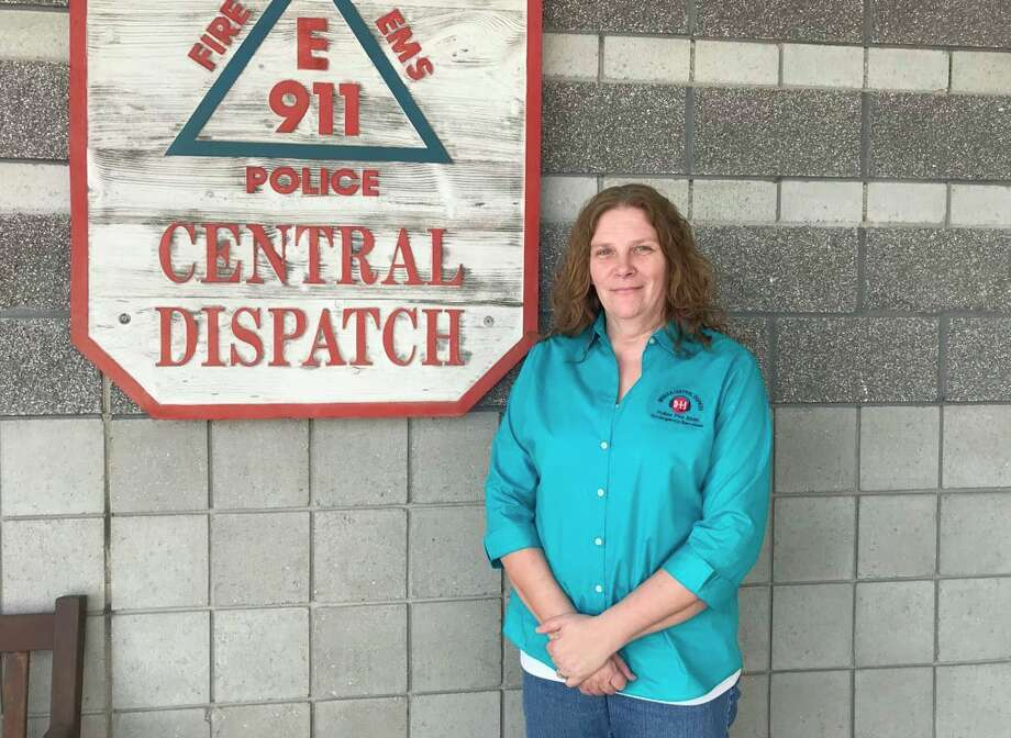 Debra Ruiz, dispatch supervisor with Meceola Consolidated Central Dispatch, said although the job is not without its challenges, she has enjoyed helping people in the community for the past 25 years. (Pioneer photo/Taylor Fussman)