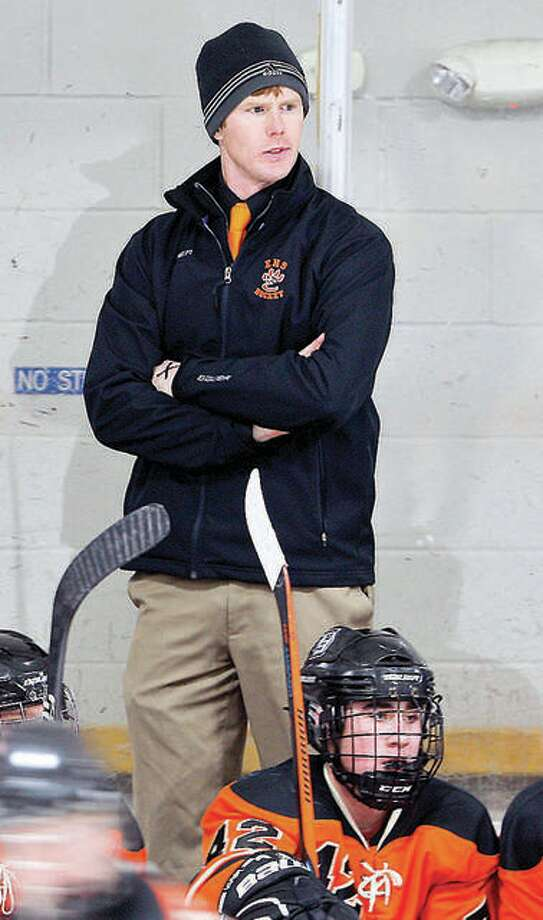 Edwardsville hockey coach Jason Walker will lead his Tigers to the U.S. Hockey High School National Hockey Tournament in suburban Dallas from March 26-30. Photo: Telegraph File Photo
