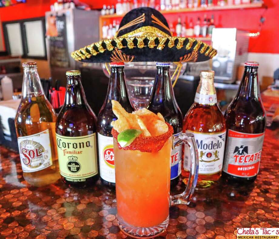 """The St. Mary's spot sells """"Micheladas Grandes"""" for $6. The price includes a 32-ounce beer and michelada. Photo: Courtesy, Chela's Tacos"""