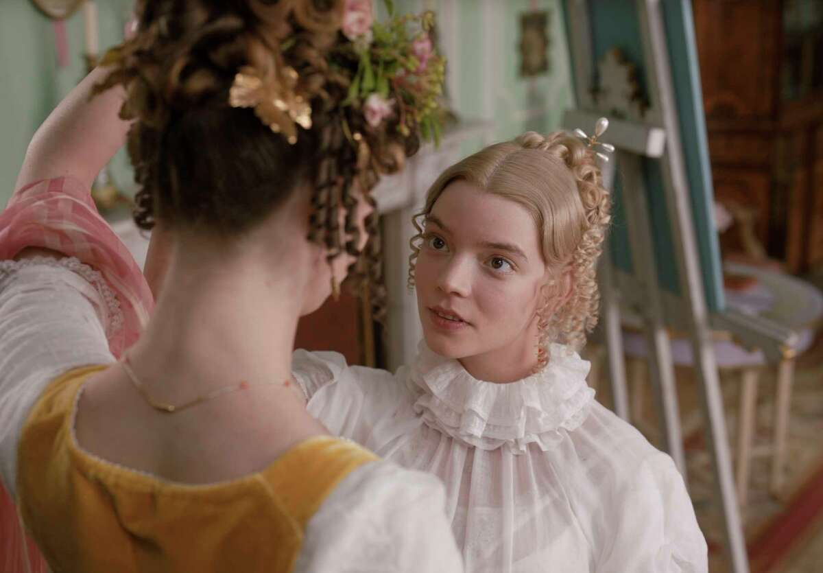 This undated image provided by Focus Features shows Anya Taylor-Joy as Emma Woodhouse in director Autumn de Wilde's film