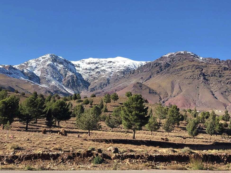 Snowcaps on the Atlas Mountains. (Photo by Azra Haqqie)