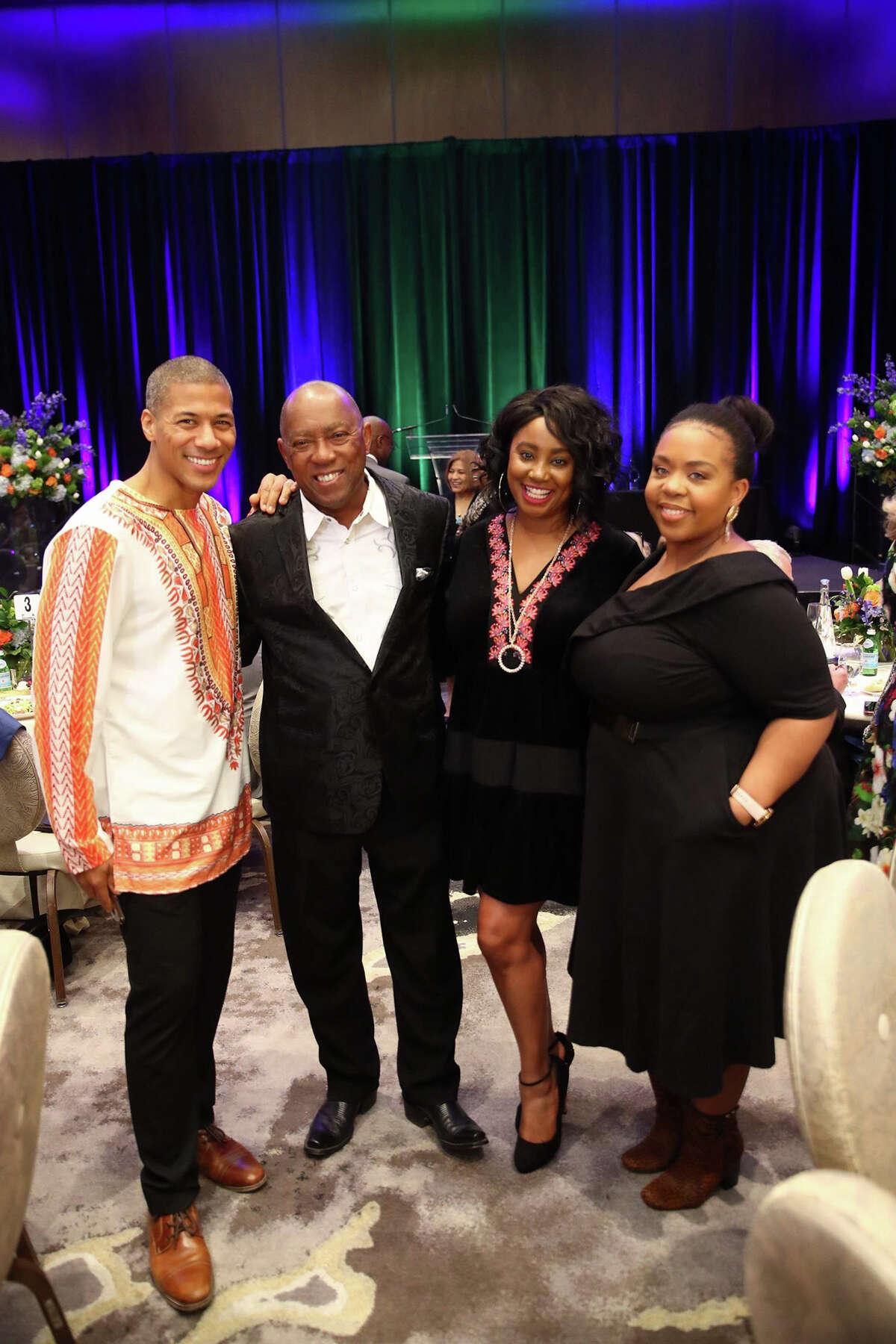Shannon Lanier, Mayor Sylvester Turner, Misha McClure and Ashley Turner