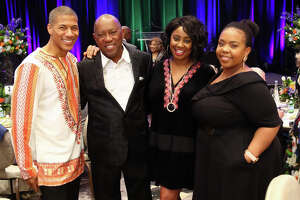 hannon Lanier, Mayor Sylvester Turner, Misha McClure, & Ashley Turner at the 3rd Mayor's History Makers Awards Presented by Comcast