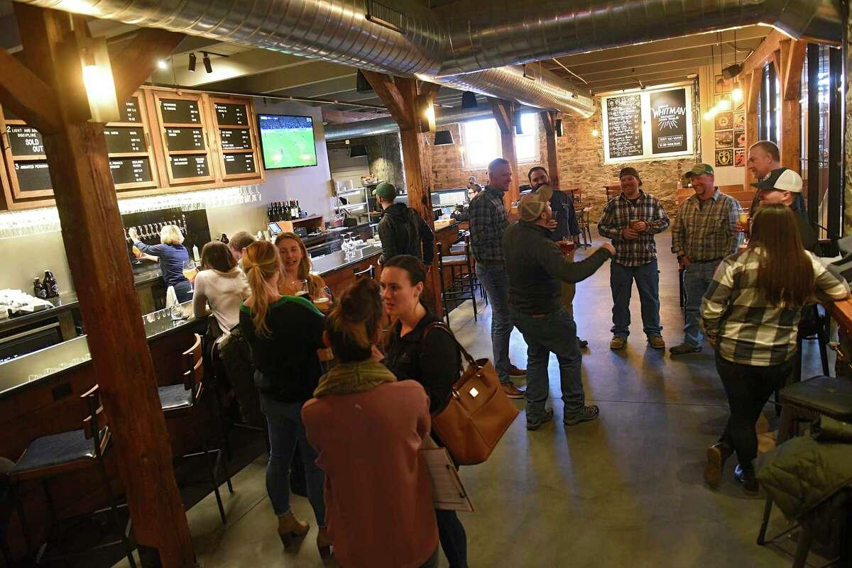 Bar and dining room at Walt & Whitman on Tuesday, Feb. 25, 2020 in Saratoga Springs, N.Y. (Lori Van Buren/Times Union)