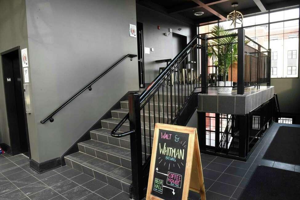 Entranceway at Walt & Whitman on Tuesday, Feb. 25, 2020 in Saratoga Springs, N.Y. (Lori Van Buren/Times Union)
