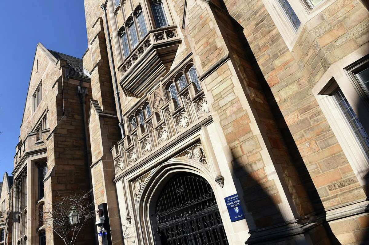 Yale University's Grace Hopper College in New Haven photographed on March 5, 2020.