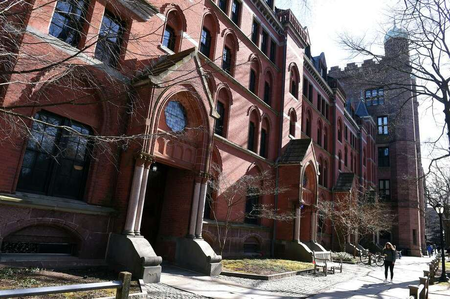 File photo of Yale University's Lawrance Hall on Old Campus in New Haven, Conn., taken on March 5, 2020. Photo: Arnold Gold / Hearst Connecticut Media / New Haven Register