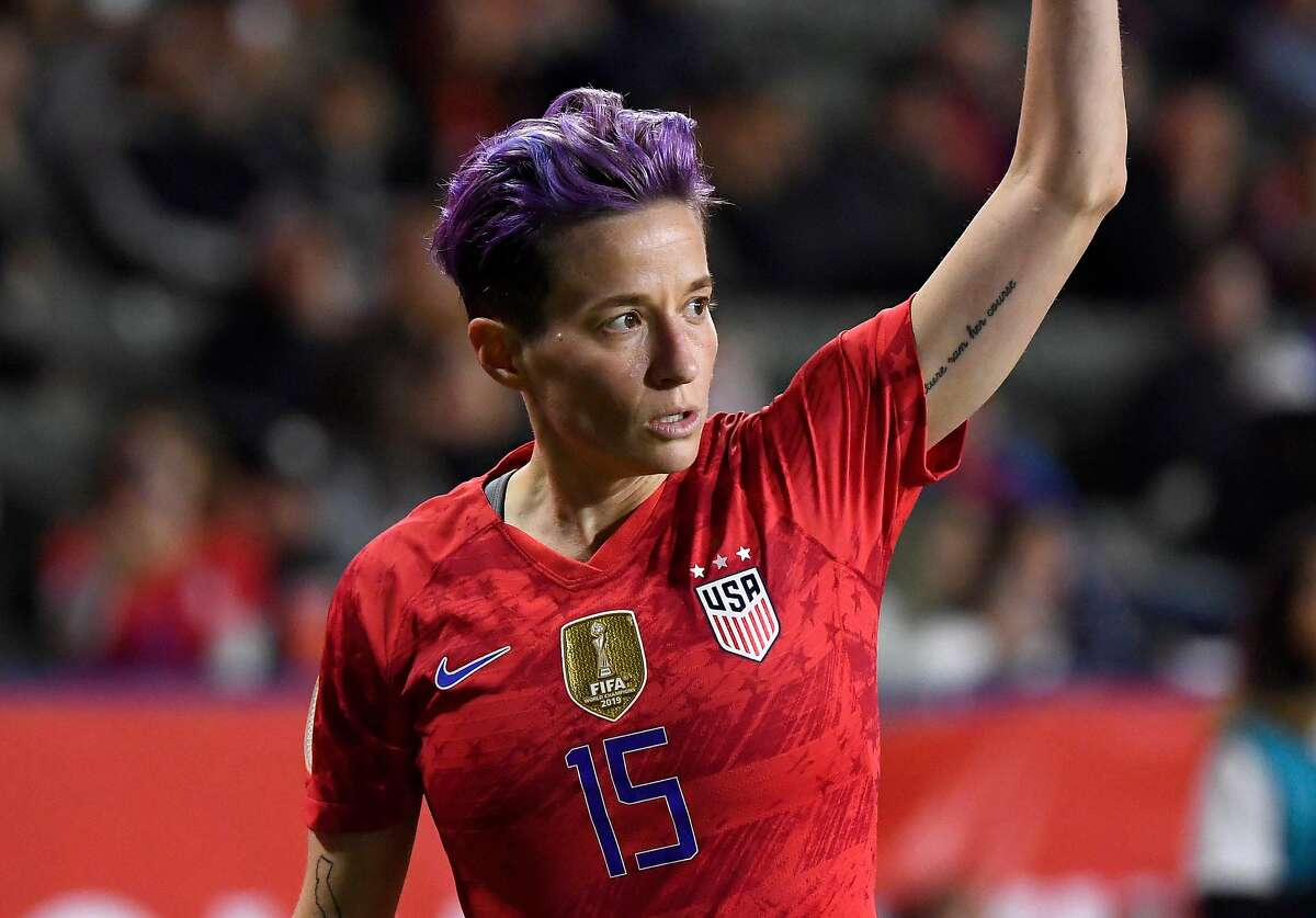 Megan Rapinoe #15 of the United States takes a corner kick during the 2020 CONCACAF Women's Olympic Qualifying against Mexico at Dignity Health Sports Park on Feb. 7, 2020 in Carson, Calif.
