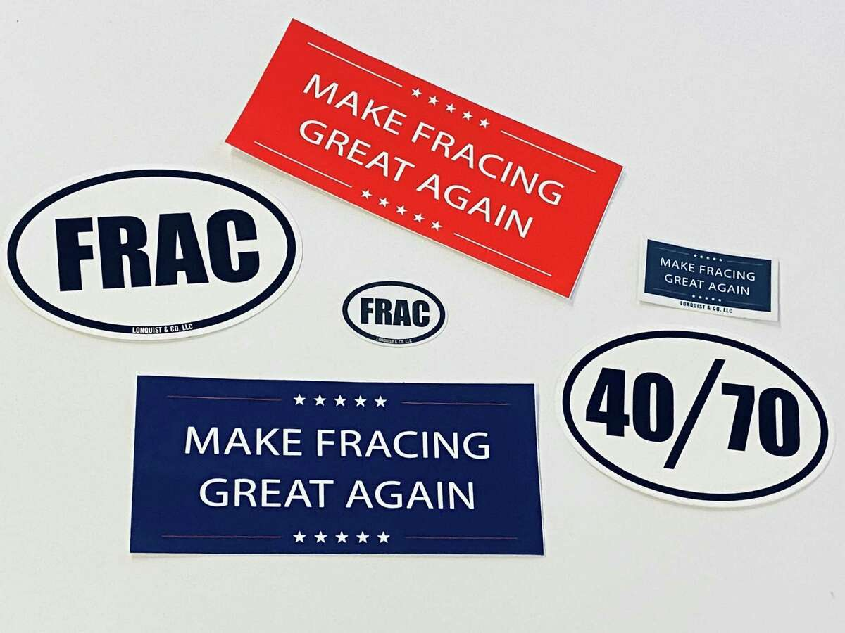 Austin frac sand and engineering firm Lonquist & Co. made a series of oil and natural gas industry bumper stickers.