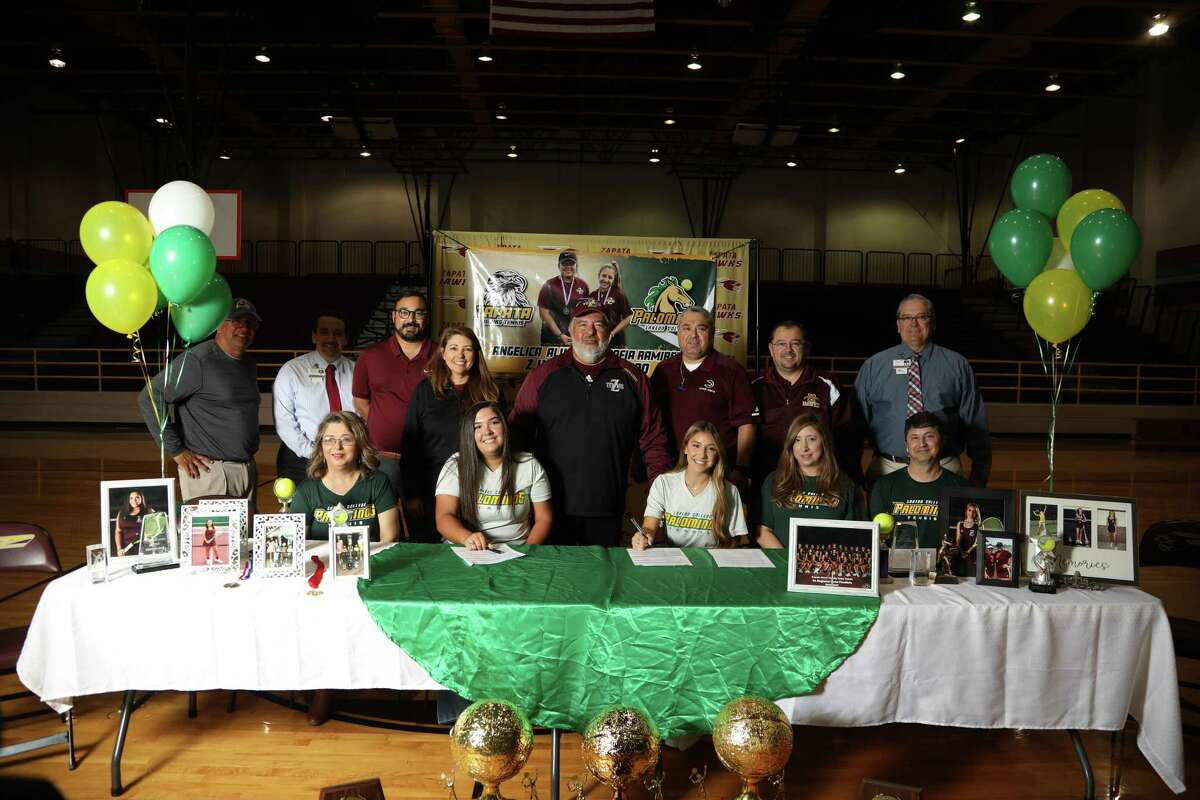 Zapata's doubles team of Angelica Alvarez and Sofia Ramirez committed Thursday to stay together at the next level as they signed with Laredo College.