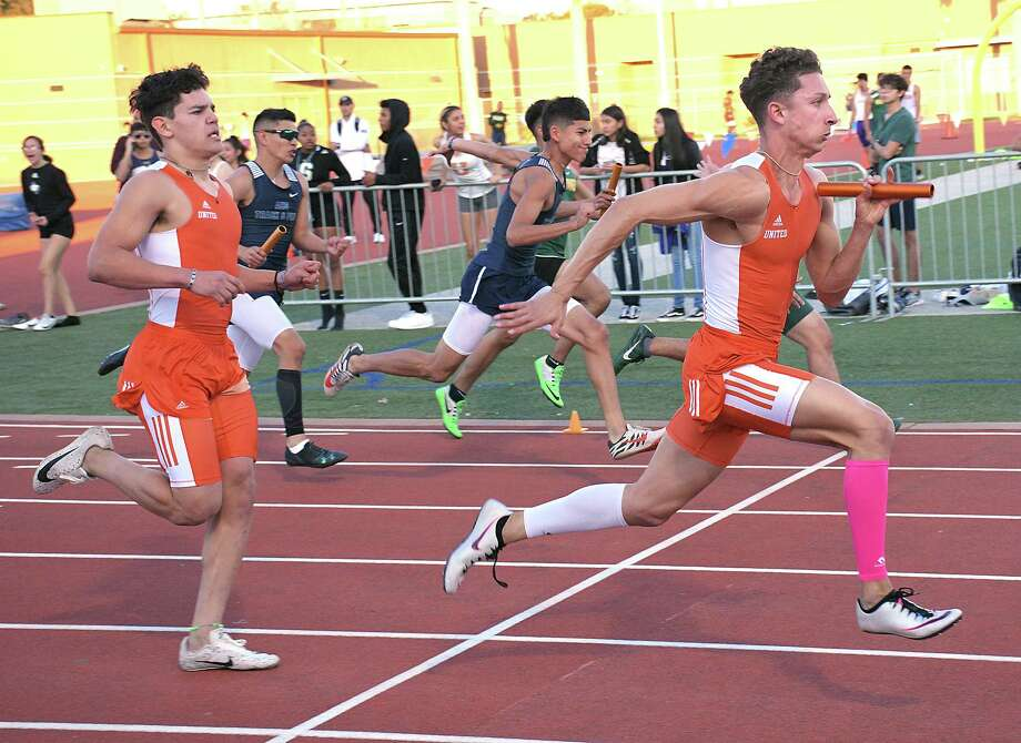 United's D'Carlo Calderon will attempt to defend his titles in the 100-meter dash and the 400-meter dash at this weekend's Border Olympics. Photo: Cuate Santos / Laredo Morning Times File / Laredo Morning Times