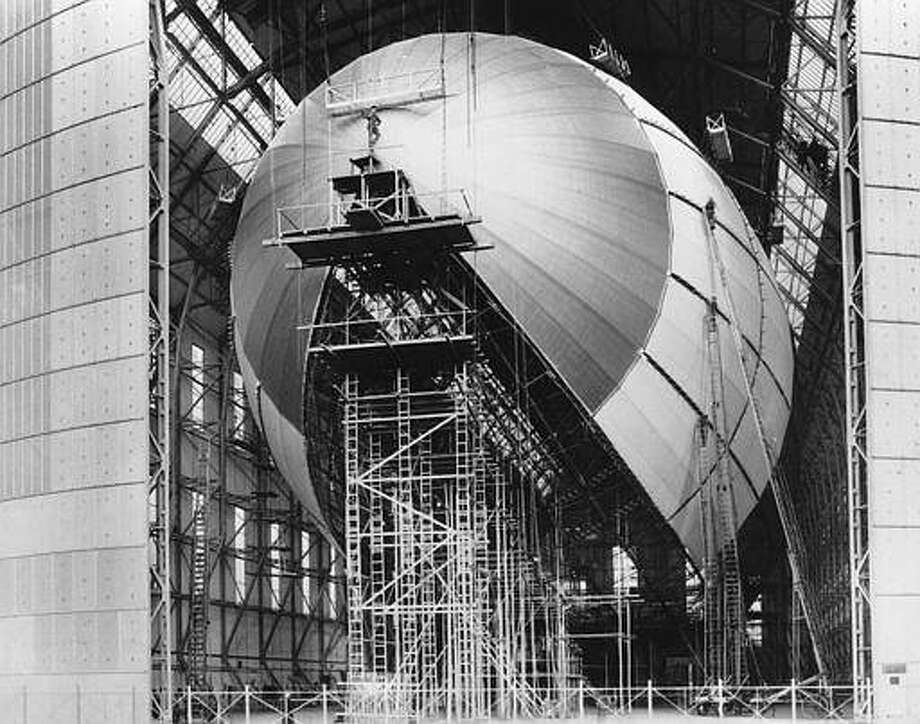 Germany's new giant airship LZ-129 Hindenburg is shown in its final stages of construction in Friedrichshafen, Germany, on March 6, 1936. Piloted by Dr. Hugo Eckener, the new zeppelin was given two successful test flights on March 4 and 5. The Hindenburg, named after the president who appointed Hitler as Chancellor, is twice the size of the Graf Zeppelin to reflect the surpassing ability of the Third Reich. (AP Photo)