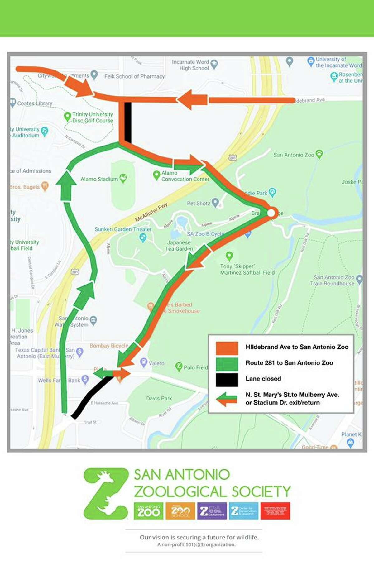 In an effort to ease the traffic problems around Brackenridge Park for spring break, the San Antonio Zoo and the city have created a new traffic plan for the area.