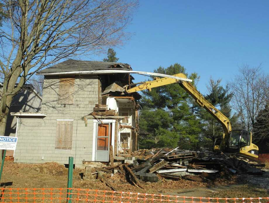 A house on Catoonah Street in Ridgefield was demolished in 2016. On Wednesday, Ridgefield voters approved an ordinance to delay demolition of historic houses by lat least 90 days. Photo: Macklin Reid / Hearst Connecticut Media File Photo