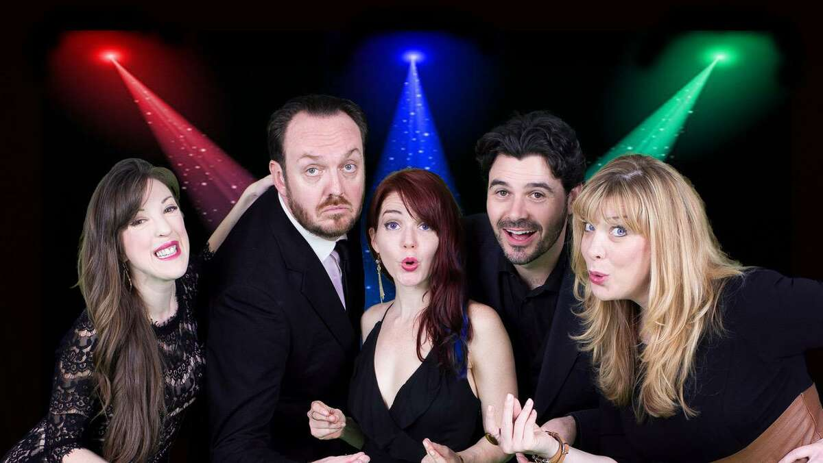 """Pictured are Kristina Sullivan, Luke Wrobel, Cay Taylor, Brad Scarborough and Rebekah Dahl from The Music Box. They are currently staging """"Quarantunes"""" through July 25."""