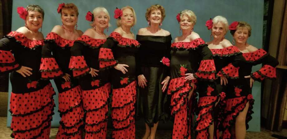 Walden Follies Jazzy Broads closed out the 2020 Walden Follies. From left to right are Sandy Barron, Jan Jessen, Paulie Geiselhart, Jeannine Dennis, Corregrapher Elaine Barrow, Chris Brock, Diane Williams and Mary Ann Lenhart. Photo: Photo Courtesy Sandy Barron