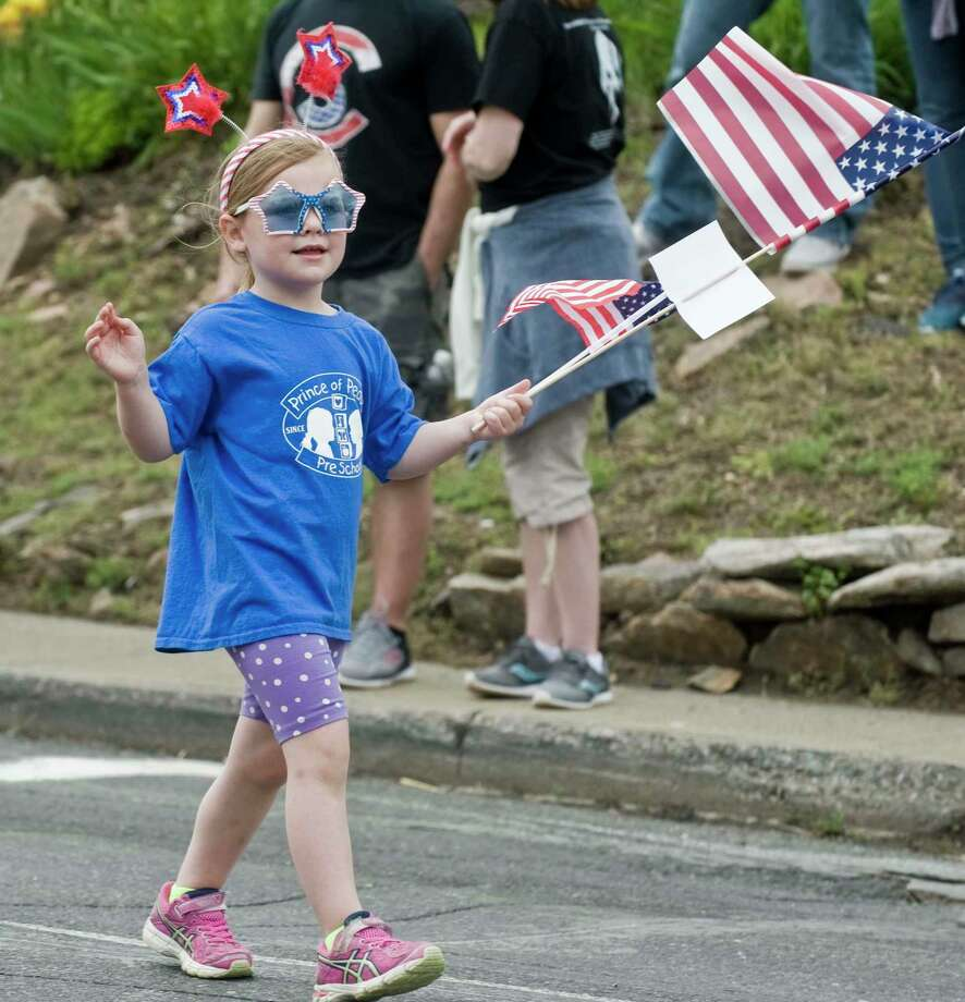 Kids of all ages marching in the Brookfield Memorial Day parade. Sunday, May 28, 2017 Photo: Scott Mullin / For Hearst Connecticut Media / The News-Times Freelance