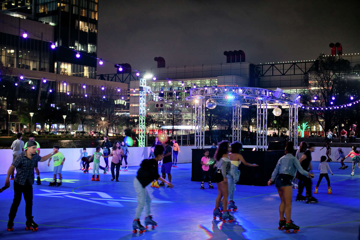 For five weeks, the rink will host various events and themed nights, such as a Houston-themed LGBTQ dance party called Rainbow on the Rink, a designated night for skaters with physical or developmental challenges called Special Skaters and Wheelchair Wednesdays and light-show and DJ night called Funfetti Fridays, according to the Discovery Green website.