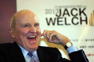 Jack Welch, former chief executive officer of General Electric Co is pictured on April 11, 2013 in Chengdu, China.