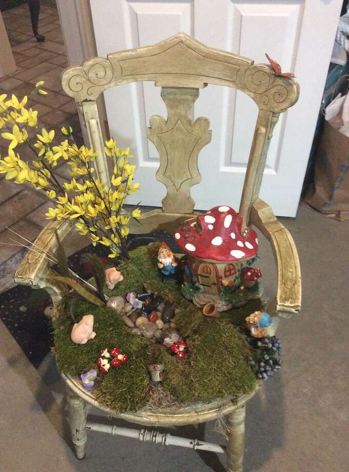 The Ridgefield Thrift Shop offers a variety of items for spring including this handmade fairy garden. Photo: Contributed Photo