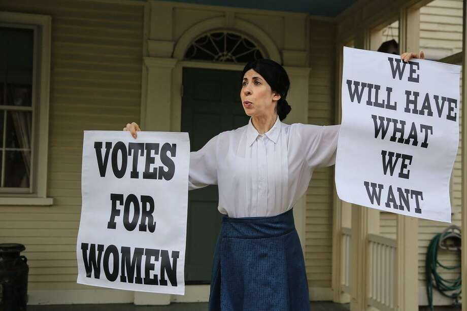 """""""Susan B. Anthony: A One-Woman Performance"""" by Sheryl Faye will be at the Greenwich Library March 29. Photo: Contributed Photo"""
