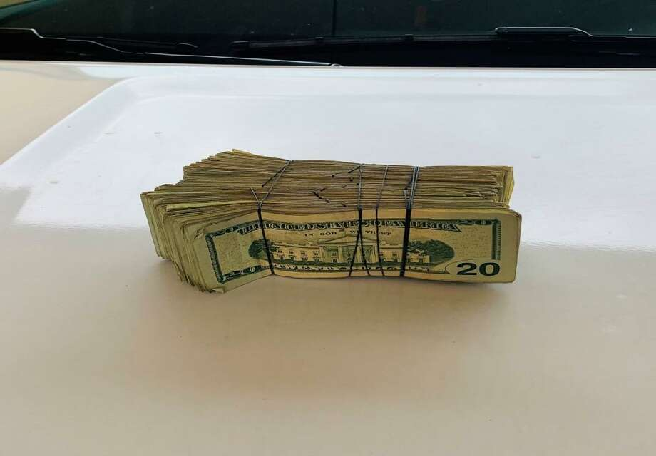 The Texas Department of Public Safety seized more than $10,000 during a traffic stop this week. Photo: Courtesy Of The Texas Department Of Public Safety