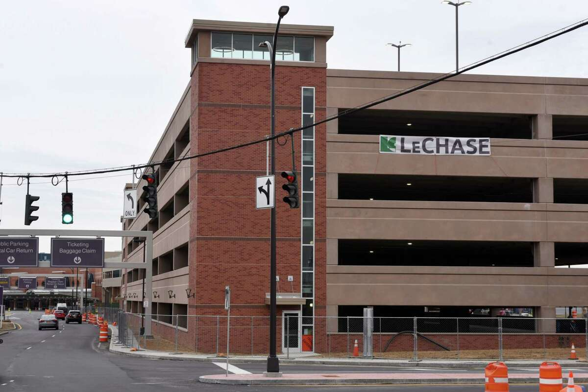 The new parking garage at Albany International Airport is nearing completion on Friday, March 6, 2020, in Colonie, N.Y. (Will Waldron/Times Union)