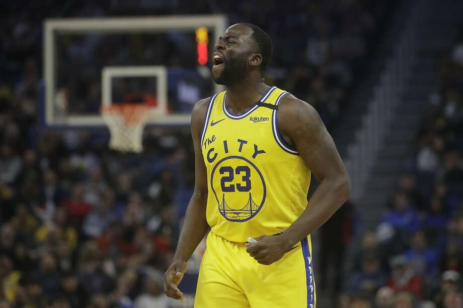 Golden State Warriors forward Draymond Green (23) reacts against the Los Angeles Lakers during an NBA basketball game in San Francisco, Thursday, Feb. 27, 2020. (AP Photo/Jeff Chiu) Photo: Jeff Chiu / Associated Press