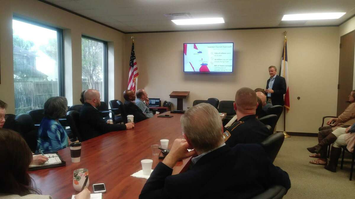 David Hagy with Texas Central gave members of the Cy-Fair Houston Chamber of Commerce an update and overview of the Texas Central high speed rail planned for the state of Texas.