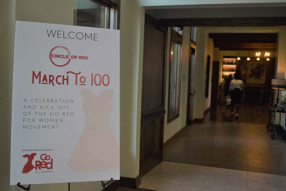 The Go Red for Women event, hosted by American Heart Association group Circle of Red, invited members and guests to kick of goal of reaching 100 members and to sign a letter against vaping companies. Photo: Chevall Pryce