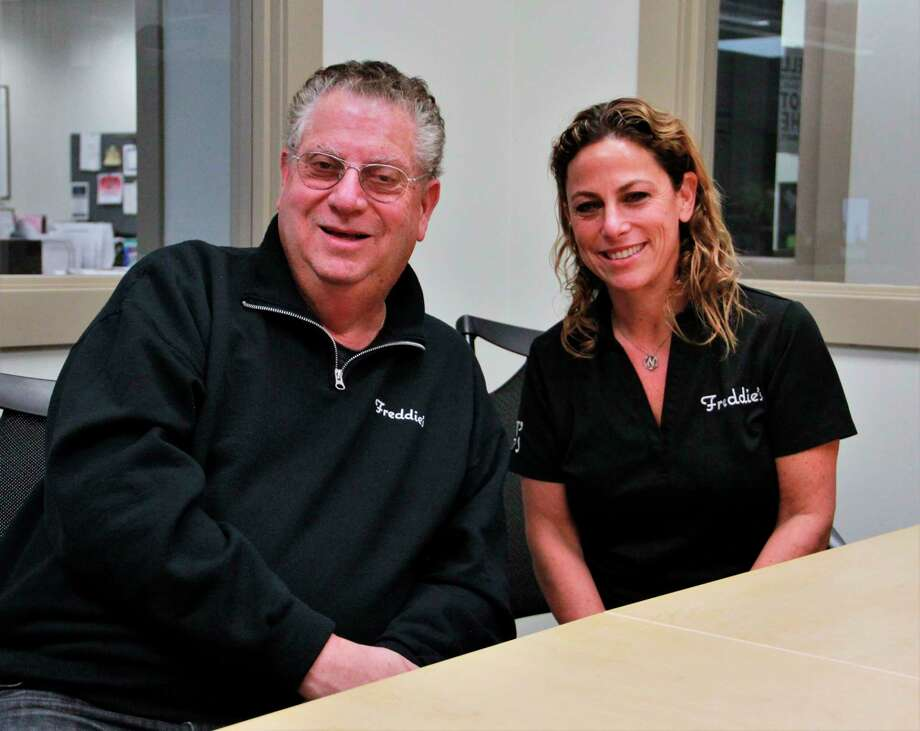 Freddie's co-owners Barry and Nicole Goodman hope to open shop in the old Great Lakes Book and Supply store, 840 Clark St., Big Rapids. The business, Freddie's, according to Barry Goodman, is named after Nicole Goodman's father, Freddy. (Pioneer photo/Alicia Jaimes)