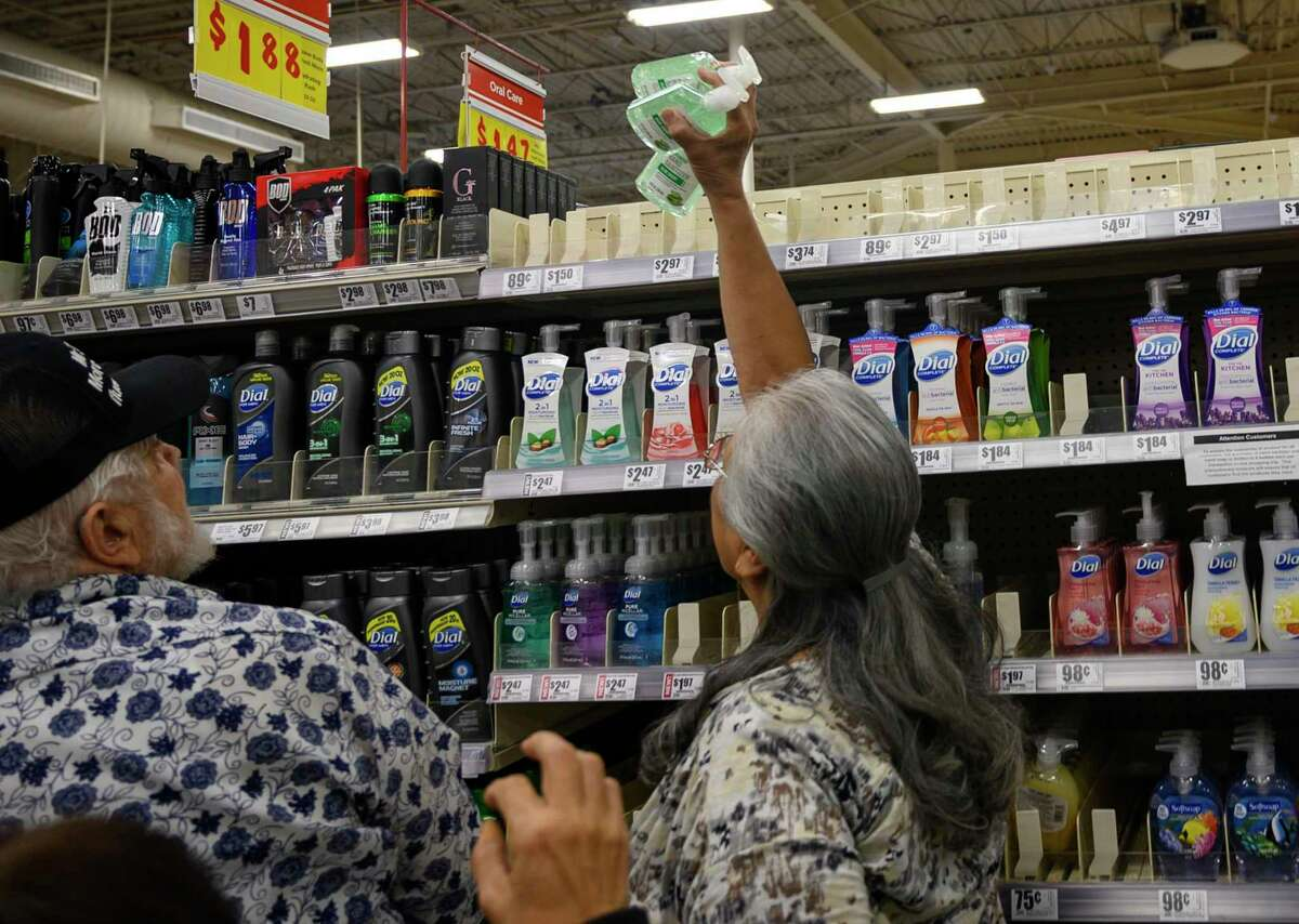 In an effort to help slow the spread of Coronavirus, H-E-B is trying to make sure hygiene products are available to all customers by limiting essentials such as hand sanitizer, latex gloves and water.