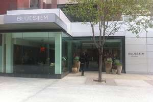 The exterior of Bluestem Brasserie in downtown San Francisco, Calif.