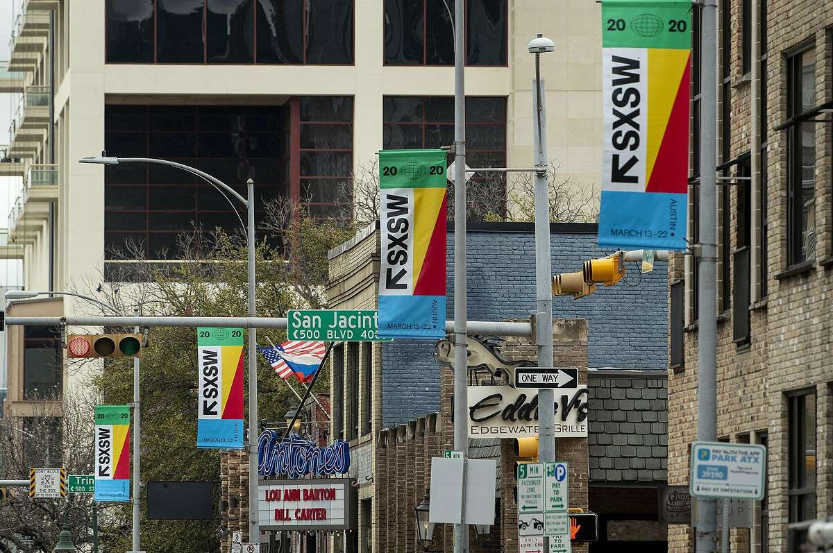 Coronavirus fears have prompted officials to cancel the iconic South by Southwest festival in Austin, Texas, just seven days before the 2020 event was scheduled to start. (Jay Janner/Austin American-Statesman/TNS)