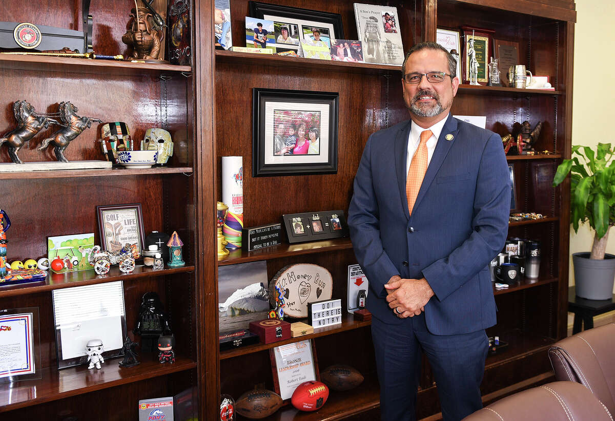 Newly selected City Manager Robert Eads poses for a photo in his office, Thursday, Mar. 5, 2020, at City Hall.