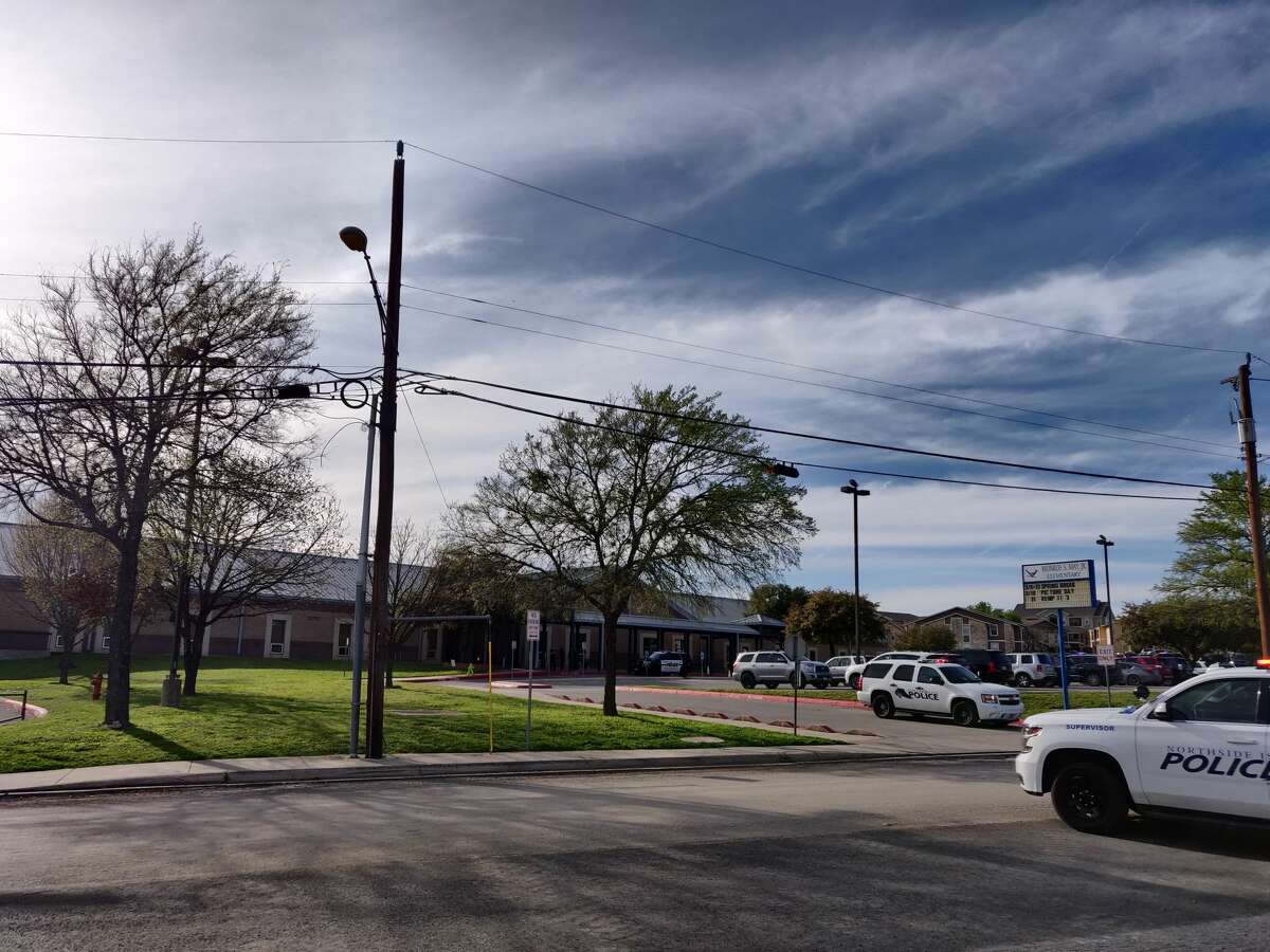 A standoff is underway between police and an unidentified person at an apartment complex in the 2700 block of Chase Hill Boulevard Friday, March 6, 2020.