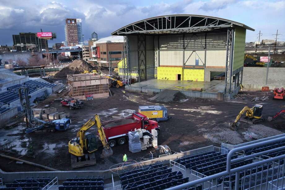 Construction continues on the conversion of the former Ballpark at Harbor Yard to an as-yet-unnamed boutique concert amphitheater in Bridgeport, Conn. on Tuesday, January 07, 2020. Photo: Brian A. Pounds / Hearst Connecticut Media / Connecticut Post