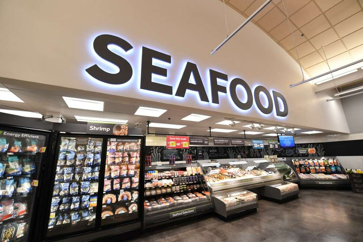 A view of a Stop & Shop seafood counter. A supermarket analyst said that Stop & Shop seafood sales used to be the envy of the grocery industry, but have now slumped. Stop & Shop has boosted its plant-based meat substitute selection in an effort to replace some of that lost business.