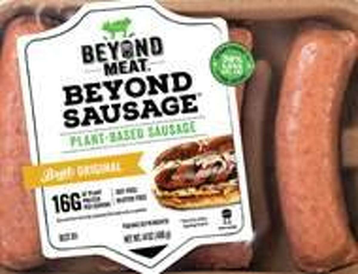 One of the more than 20 plant-based meat substitutes Stop & Shop offers. The supermarket chain is marketing its selection of the plant-based products toward those who observe meatless Fridays during Lent.