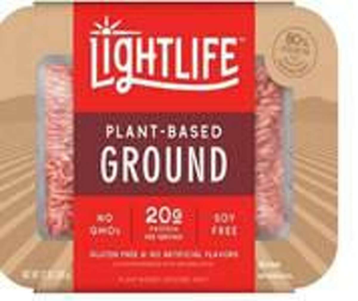 A plant-based meat substitute for ground beef that is sold at Stop & Shop stores.