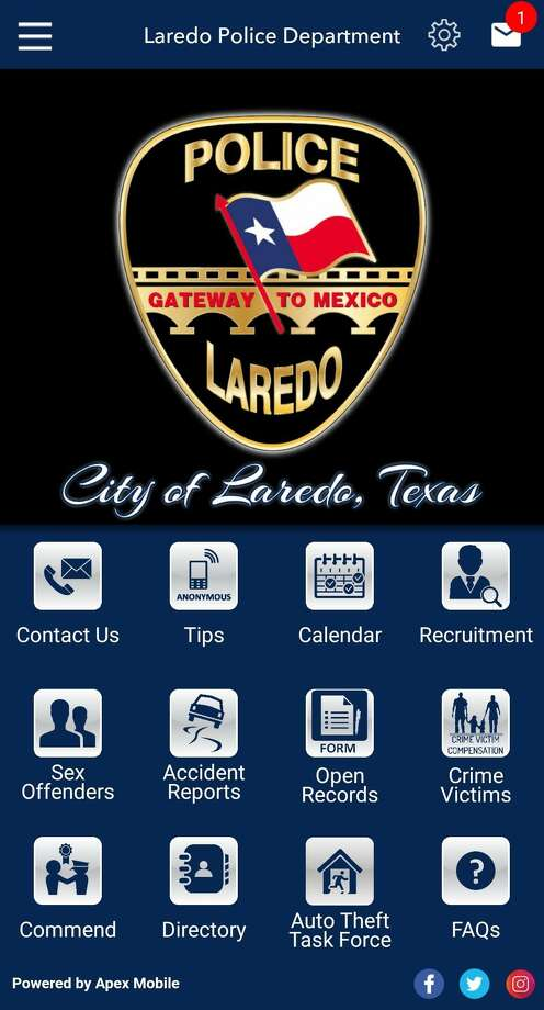 Laredo police are inviting the community to use their app. Photo: Courtesy Photo /Laredo Police Department