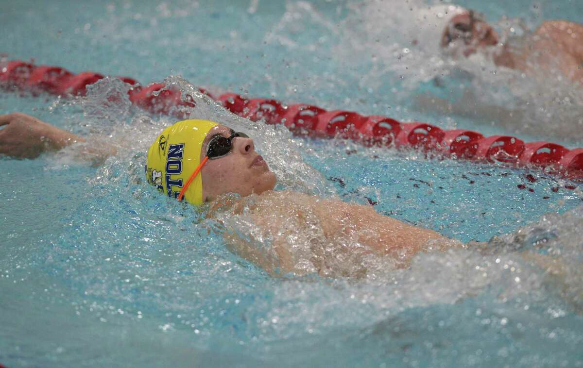 Weston's Allen Hawkins competes in the 200-yard IM during the SWC championships in March in Monroe.