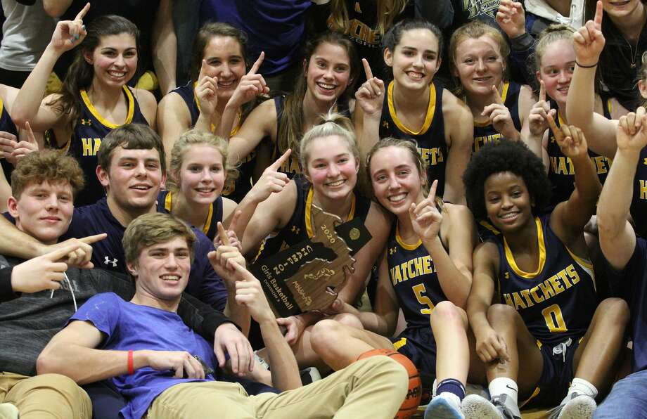 The Bad Axe varsity girls basketball team began the defense of its first district championship since 1980 on Thursday night with a 48-38 road win at Brown City. Photo: Mark Birdsall/Huron Daily Tribune